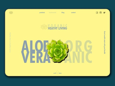 Beauty & Skin Care Product Landing Page - Aleo Yellow