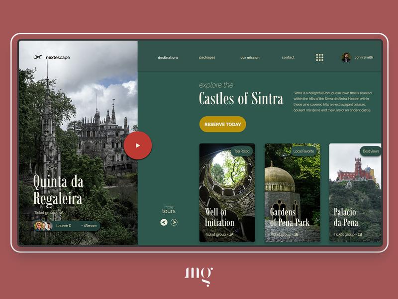 Sintra Tour Company - Concept portugal travel travel agency uidesign web designer website typography landing page design branding ui