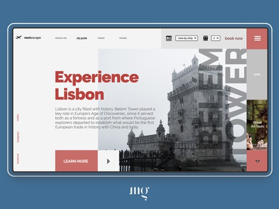 Experence Lisbon - Travel Guide Site Concept
