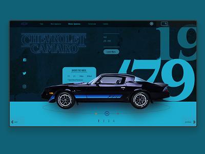 STRANGER THINGS CAMARO - Car Finder Concept strangerthings design web branding sales page web design uidesign dealership car chevrolet stranger things typography ux designer website ui