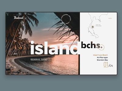 Island Dribbble usemuzli concept logotype portfolio uidesign ux landing page web branding website typography design ui