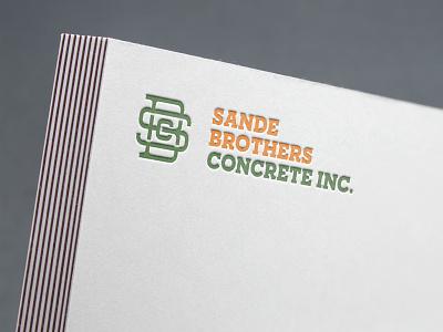 Letter press - Embossed SBC Monogram icon mockup brand identity concept logo logotype designer typography branding design