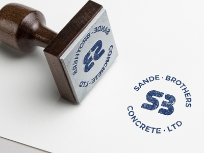 Logo Mock Stamp SBC logo icon vector brand identity concept ui designer logotype design branding
