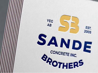 Embossed Print SBC vector icon brand identity concept logo designer typography logotype design branding