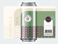 DOUBLE IPA Craft Beer Lable