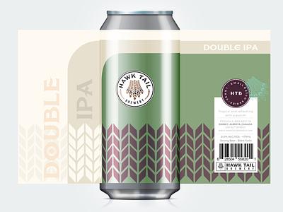 DOUBLE IPA Craft Beer Lable beer branding beer label beer can beer craft craft beer craftbeer logo brand identity branding