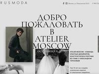 Atelier.Moscow by Alexander Terekhov animation terekhov readymag web promo landing page landing fashion