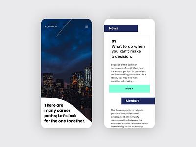 Platform for students startup branding startup typography ux webside ui minimal website news job mentoring figma branding mobile mock up