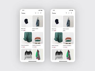Ecommerce shop | mobile application branding video figma gray ecommerce shop concept app mobile design minimal mock up motion graphics ui animation