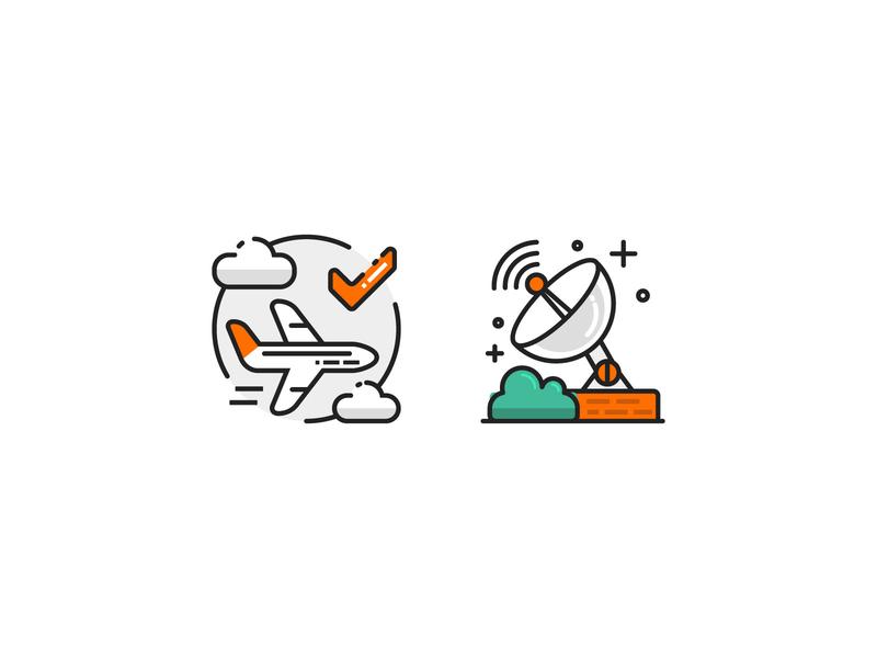 Flight Icon B vector ui icon flight flat design illustration