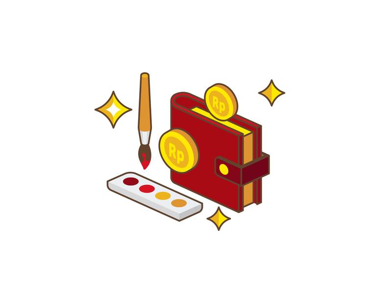 Key Icon D vector ui icon flat design illustration