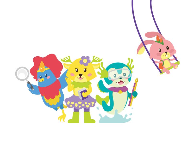 KuBisa Character illustration flat design animal character character