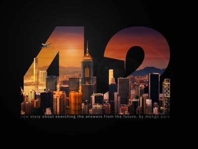 '42' album cover by Mungo Park typography cover art illustration