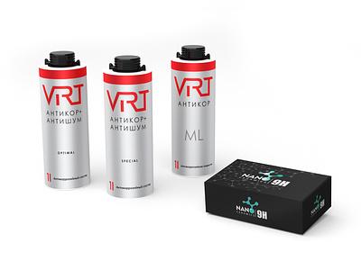 VIRT / Nano ceramics 9H - anti-noise/anticor coatings brands design logo branding typography 3d modeling illustration