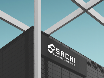 Sachi Building Materials paragon international vector artwork muscat black  white black creative  design advertising design advertisement advertising agency out of home outdoor mockup outdoor advertising outdoor badge outdoor logo outdoor oman ux branding ui vector