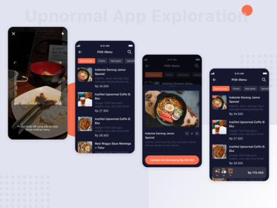 Food Ordering App Exploration - Upnormal
