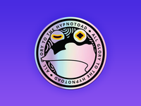 All Glory to the Hypnotoad - Holographic Sticker hypno design sticker mule sticker design stickermule alien futurama hypnotoad hypnotic holographic sticker stickers holographic