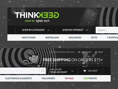 ThinkGeek X Twilight Zone thinkgeek website ecommerce halloween ux theme twilight zone shopping