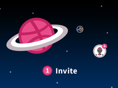 Invite Planet player stars space planet dribbble invite dribbble invite