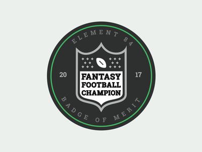 Fantasy Football Merit Badge vector illustration icon logo sports draft football fantasy football nfl merit badge badge