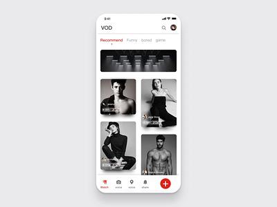 Photo sharing app ux design ui