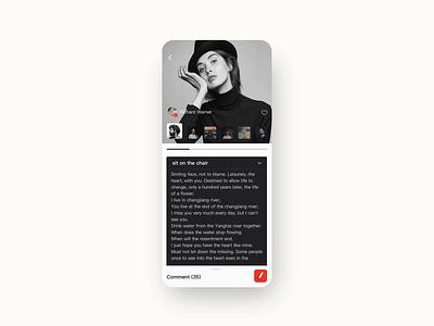 Photo sharing app 2 illustration design ui
