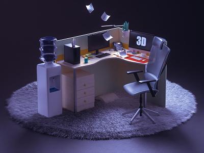 office 3d art