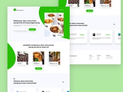 KulinerinAja - Food Website ux web desgin website ui  ux flat ui design