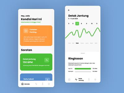 Baby Care App redesign app design app ux ui  ux flat ui design