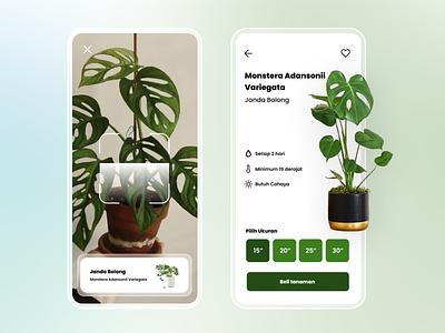 Plant App branding plants app design app ux ui  ux flat ui design