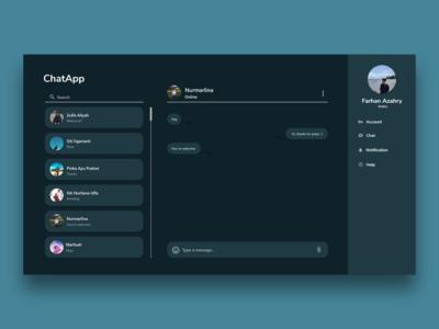 ChatApp Dark Theme UI