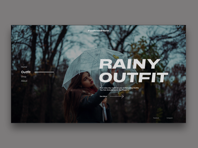 Fashion Store rainy outfit model fashion web desgin ux website web ui  ux ui design