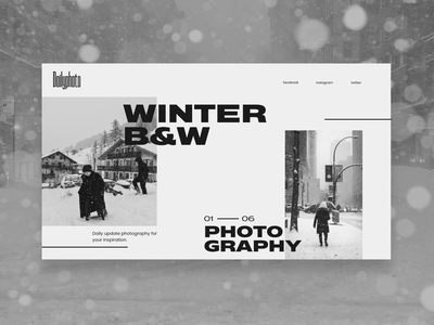 Dailyphoto typography black and white photography flat web desgin website web ux ui design