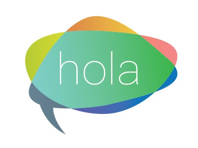 Hola logo hola color circle