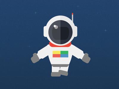 Spaceman space astronaut flat google