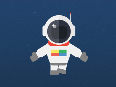Spaceman space astronaut flat google