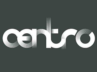 Centro Circle Logo type logo line art