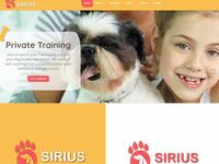 Sirius dog training center logo design