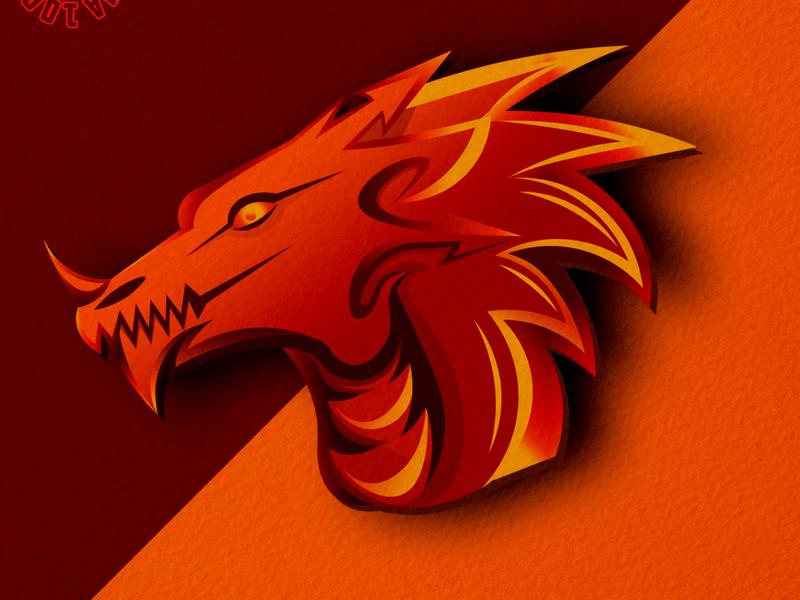 dragons mascot logo mascotlogo branding dragons logodragons logoidentity logoawesome logoinspirations logo army vintage flat skull tshirt design sketch illustration design tshirt illustrator