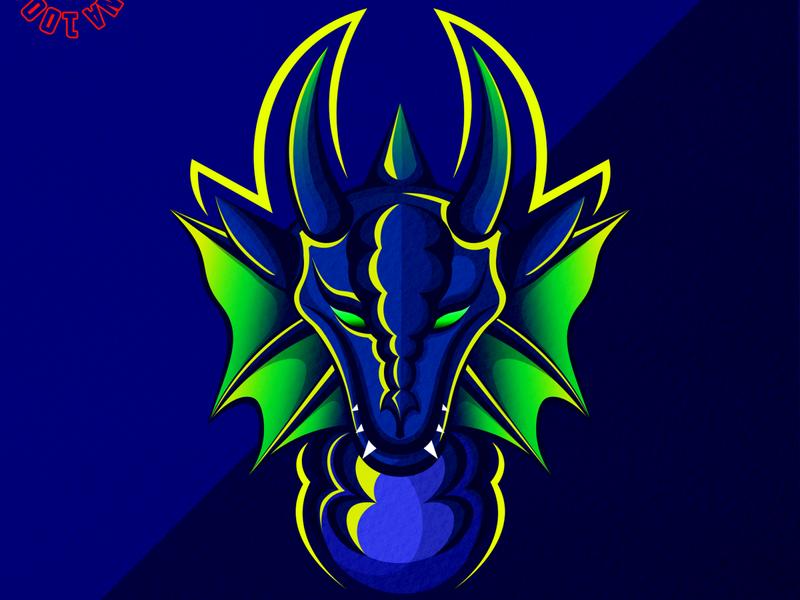 water dragon mascot logo gaminglogo gaming logoinspiration dragonslogo logotype logoillustration logo design logomascot logo army skull vintage flat sketch illustration design tshirt illustrator tshirt design