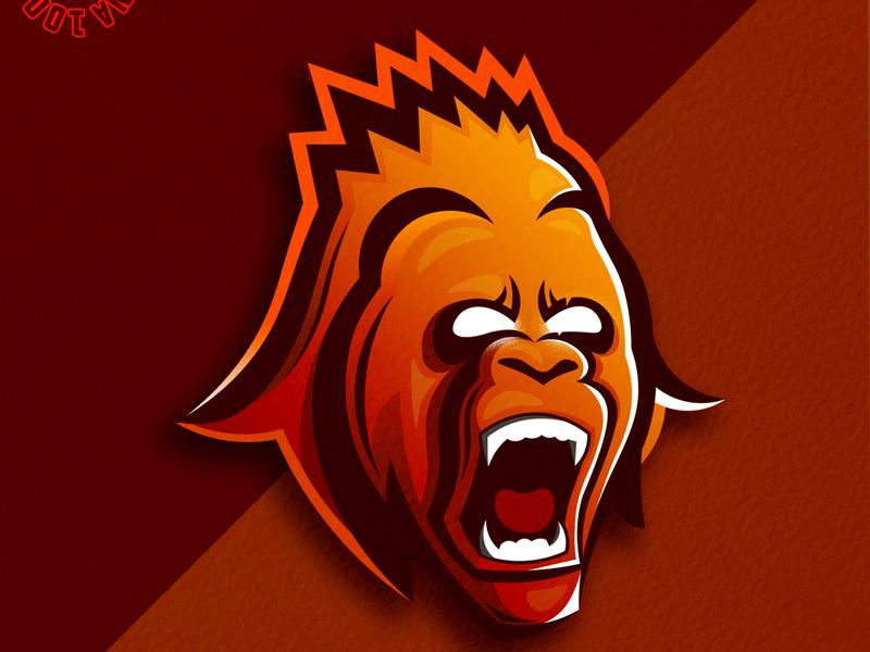 kong logoforsale logoplace mascotlogo logomascot logoiedas illustration gaminglogo branding