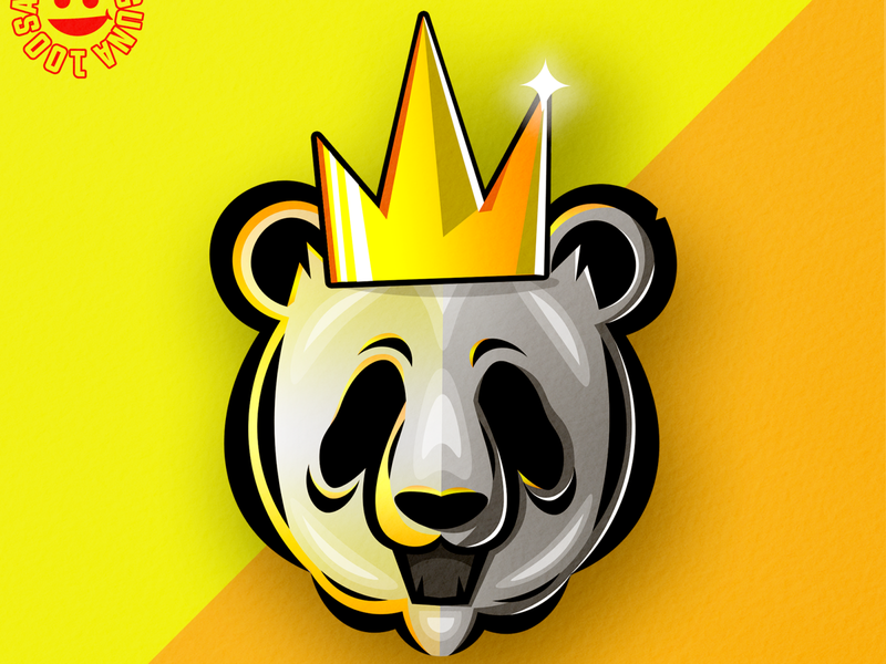 panda logoideas logoinspirations yellow flatdesign mascotlogo panda illustration illustrator logomascot mascot logo