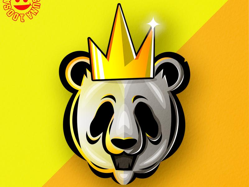 panda logoideas logoinspirations yellow flatdesign mascotlogo panda illustration illustrator logomascot mascot logo