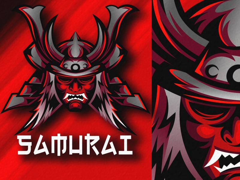 samurai logo mascot samurai jack sale designer design app logotype logos logo design samurai logomascot tshirt design tshirt flat logo design illustration illustrator