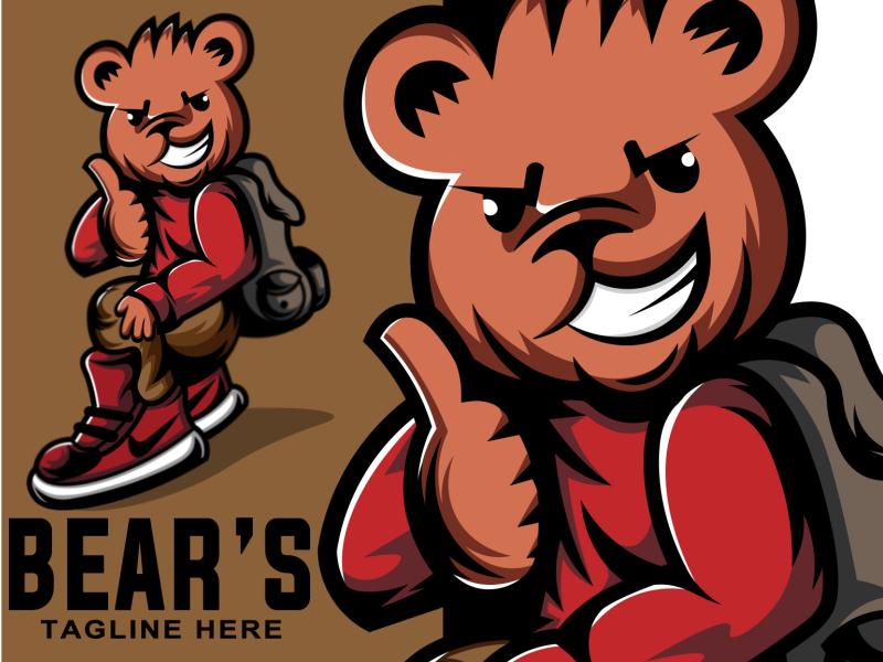 bears hype branding logoinspiration mascotlogo logo tshirt sketch tshirt design design illustration illustrator