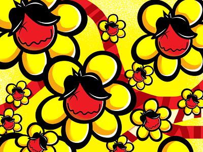 suksesflowerman vintage skull sketch flat tshirt design logo tshirt design illustration illustrator