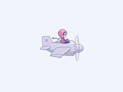 Just Fly! game design plane cute motion graphics motion design flying illustrator after-effects illustration character toons cartoon vectorart vector aftereffects animation air airplane pilot