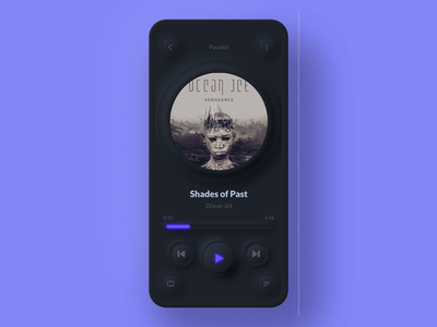 Neumorphic Music Player (Light vs Dark) interaction app lightmode smooth music app music player music player design concept ios android mobile darkmode animation dark mode skeuomorph neumorphism neumorphic neumorph