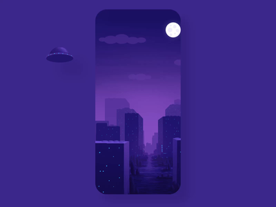 1 dribbble invite motion animation digital painting alien purple illustrations vector stay home stayhome dribbble invite dribbble invitation ufo interaction ui illustration parallax mobile design invite