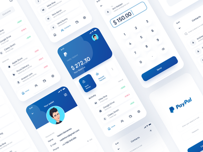 PayPal App Redesign Conept redesign money wallet finance banking transaction payment paypal app ui